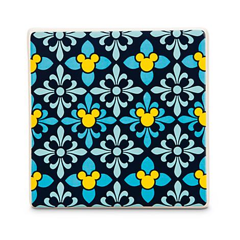 Disney Ceramic Tile Mickey Mouse Icon Diamond Indigo