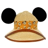 Disney Hat - Ears Hat - Safari Mickey and Pluto Straw Hat with Ears