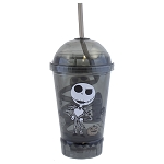 Disney Tumbler with Straw - Jack Skellington Gray Portrait Light Up