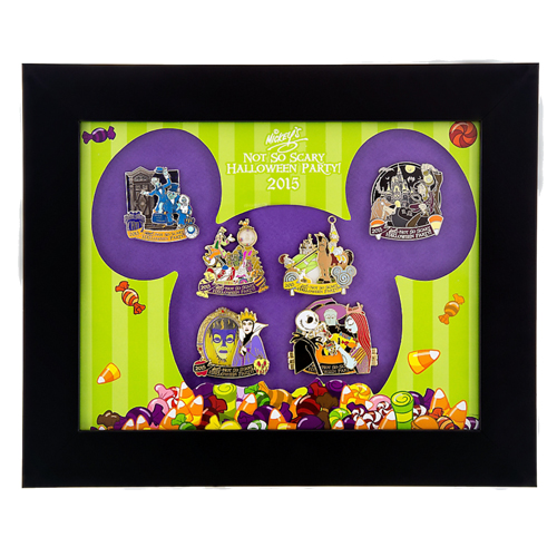 Your WDW Store - Disney Framed Pin Set - 2015 Mickey\'s Halloween ...