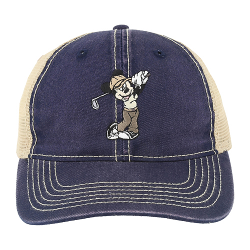 Disney Hat - Baseball Cap - Mickey Golfing - Mesh Backing