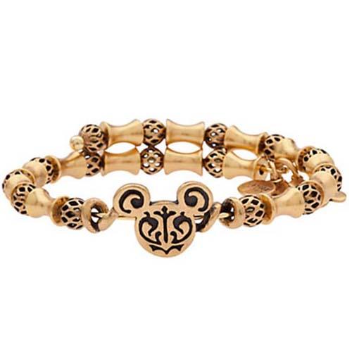 Disney Alex And Ani Bracelet Mickey Mouse Filigree Wrap Gold