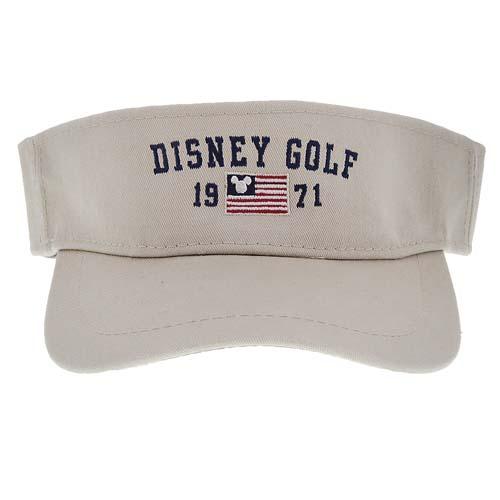 a36ea297810 Disney Golf Sun Visor Hat - Mickey Icon American Flag - 1971