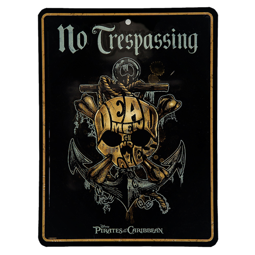 Disney Door Sign - Pirates of the Caribbean - No Trespassing Dead Men