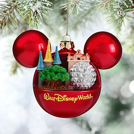 disney christmas ornament mickey ears ball 4 parks one world