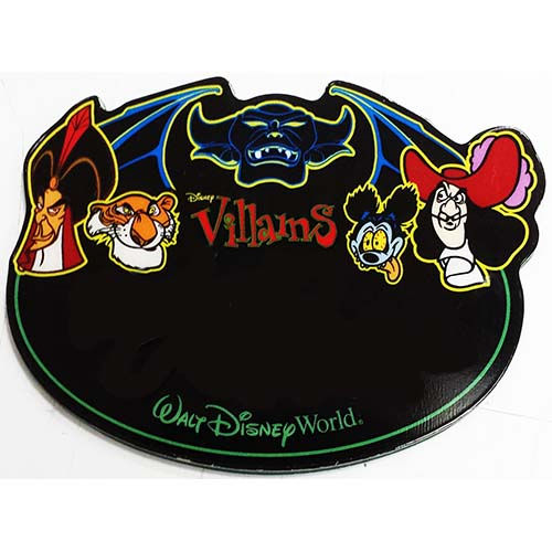 Disney Personalized Name Tag - Male Villains Jafar Captain Hook