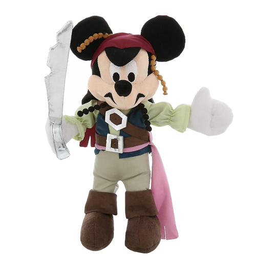 Disney Plush - Pirates of the Caribbean Mickey Mouse Jack Sparrow