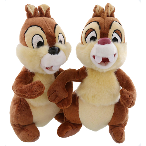 Disney Plush - Chip & Dale Chipmunk pals stuffed animal Set