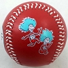 Universal Collectible Baseball - Dr Seuss Thing 1 & 2