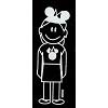 Disney Window Decal - Mom with Mickey Ears
