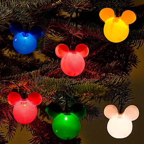 disney mickey ears christmas lights multi colors