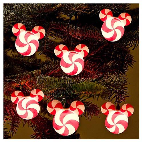 Add to Wish List - Disney Mickey Ears Christmas Lights - Candy Cane Peppermint Swirl