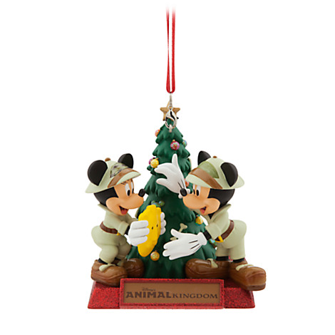 disney holiday ornament mickey and minnie animal kingdom tree