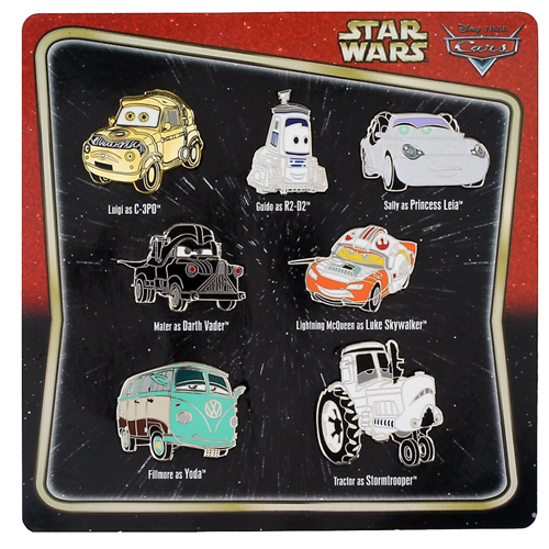 Disney 7 Pin Booster Set Cars Characters As Star Wars Characters