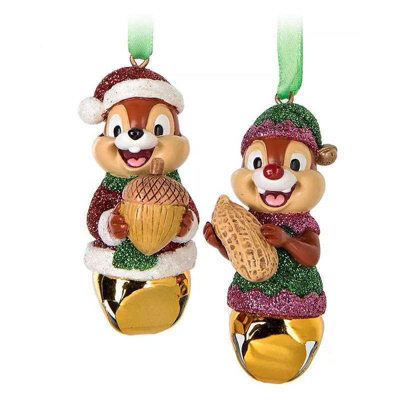 Disney Jingle Bell Ornament Set - Chip and Dale