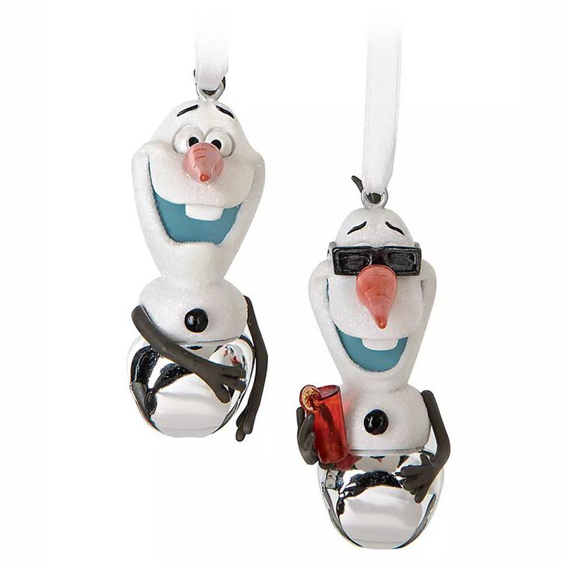 Disney Christmas Ornament Set - Winter and Summer Olaf Jingle Bells