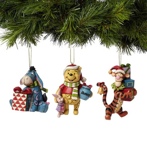 Tigger Christmas Ornaments.Disney Ornament Set Traditions By Jim Shore Pooh Eeyore Tigger