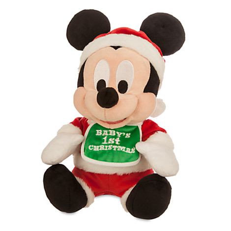 disney plush baby mickey mouse babys first christmas red - Christmas Mickey Mouse