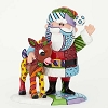 Universal Figurine by Britto - Rudolph and Santa Pop Art Block