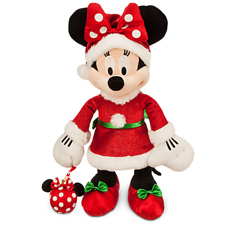 Disney Christmas Plush - Happy Holidays 2015 - Santa Minnie