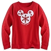 Disney LADIES Shirt - Mickey Mouse Snowflake Icon Long Sleeve