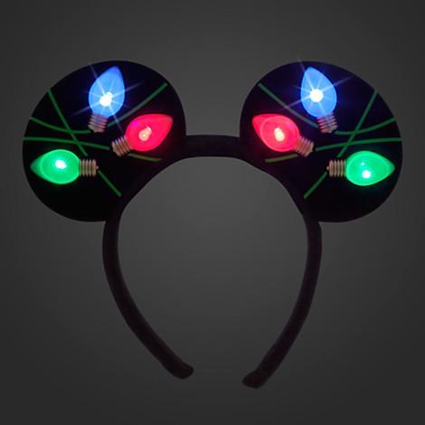 5b183408f5ae0 Disney Mickey Ears Headband - Holiday Mickey Christmas Lights. Tap to expand