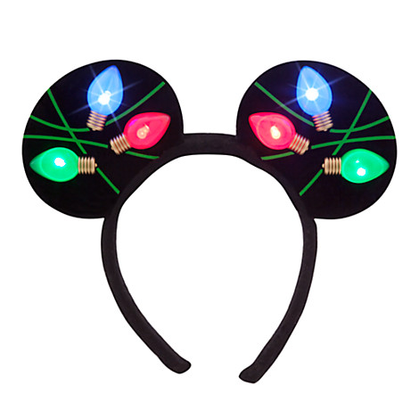 Disney Mickey Ears Headband - Holiday Mickey Christmas Lights