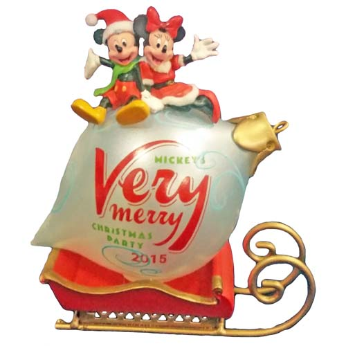 disney holiday ornament mickeys very merry christmas party 2015 - Disney Christmas Party 2015