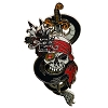 Disney Pirates of the Caribbean Pin - Skull with Sliding Sword