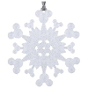 Disney Christmas Ornament - Snowflake w/Mickey Icons - Silver Glitter3