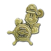 Disney Cruise Line Pin - Captain Mickey at the Wheel
