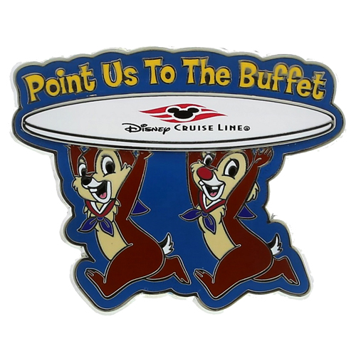 Disney Cruise Line Pin - Chip and Dale - Point Us to the Buffet
