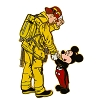 Disney Mickey Pin - Mickey with Fireman