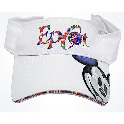Disney Sun Visor Hat - EPCOT - World Pavilion Logo with Mickey Face 963b9ddc606