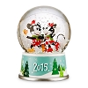 Disney Snowglobe - Holiday Mickey and Minnie Mouse 2015
