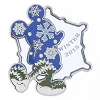 Disney Winter 2015 Pin - Snowflake Mickey Mouse Icon
