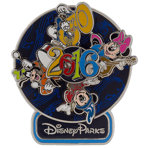 Disney Annual Pin - 2016 Music Magic Memories - Spinner
