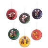 Disney Holiday Ornament - Mickey & Friends  - Set of 6 Decoupage