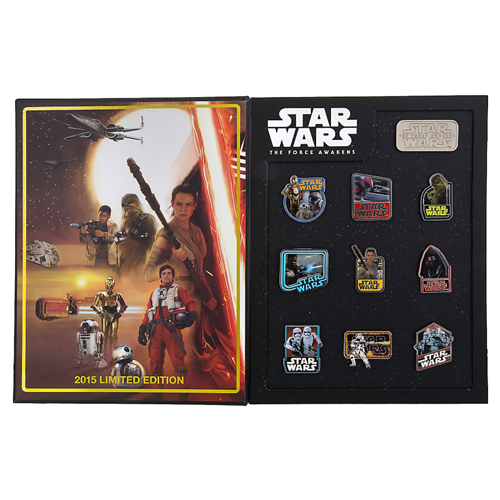 Disney Star Wars Pin - Force Awakens Countdown Ten Pin Box Set