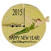 Disney New Year Pin - Happy New Year 2016 - 2015 - Peter Pan & Tink