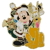 Disney Christmas Pin - Santa Mickey and Reindeer Pluto
