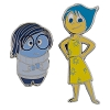 Disney Pixar Inside Out Pin Set - Joy and Sadness