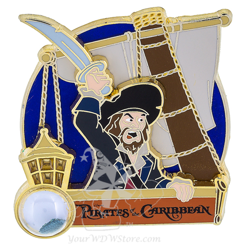Disney Piece of WDW History Pin - #5 Pirates of the Caribbean Barbossa