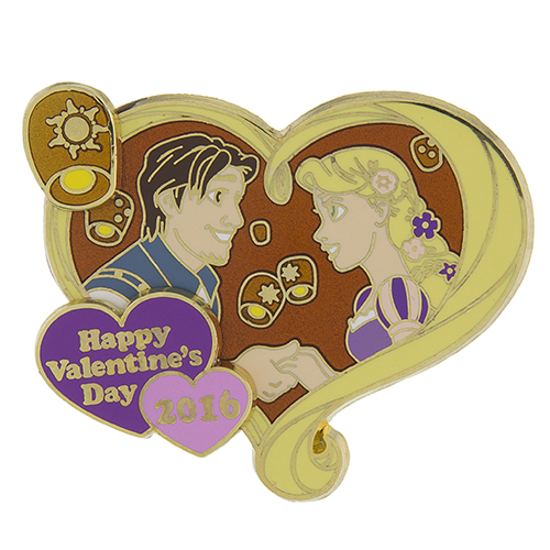 Disney Valentines Day Pin 2016 Rapunzel And Flynn