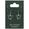 Disney Sterling Silver Earrings - Mickey Icon with Clovers by Kit Heath