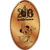 Disney Pressed Penny - 2016 Sorcerer Mickey