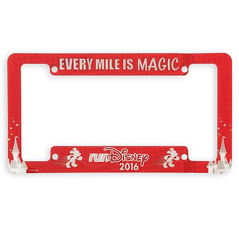 Disney License Plate Frame   RunDisney 2016