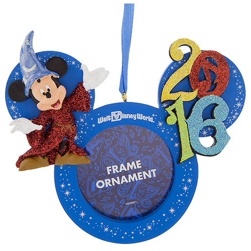 disney christmas frame ornament 2016 sorcerer mickey mouse