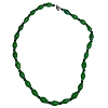 Disney EPCOT Recycled Paper Choker Necklace - Green Beads