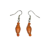 Disney EPCOT Recycled Paper Earrings - Orange Beads